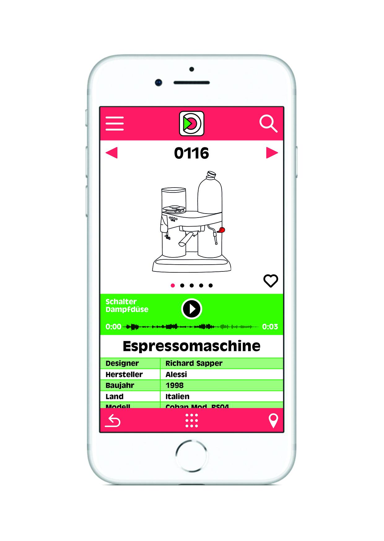 Vorschaubild der App Sound of Design, Entwicklung: Klangerfinder GmbH & Co KG, Zeichnungen: Carla Nagel