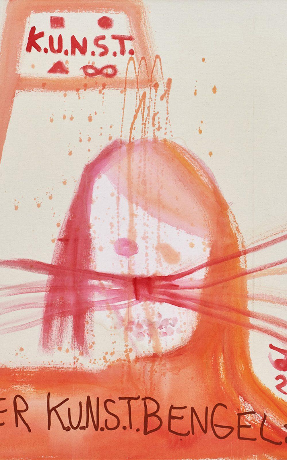 "Jonathan Meese, ""CHEF DE KUNST"" SAGT: KUNST IST DE CHEF!"", Acryl auf Nesse, 120,5 x 100,3 x 3,3 cm, 2017 © Photography Jan Bauer . Net | Courtesy Jonathan Meese . Com © Jonathan Meese /VG Bild-Kunst, Bonn 2018"