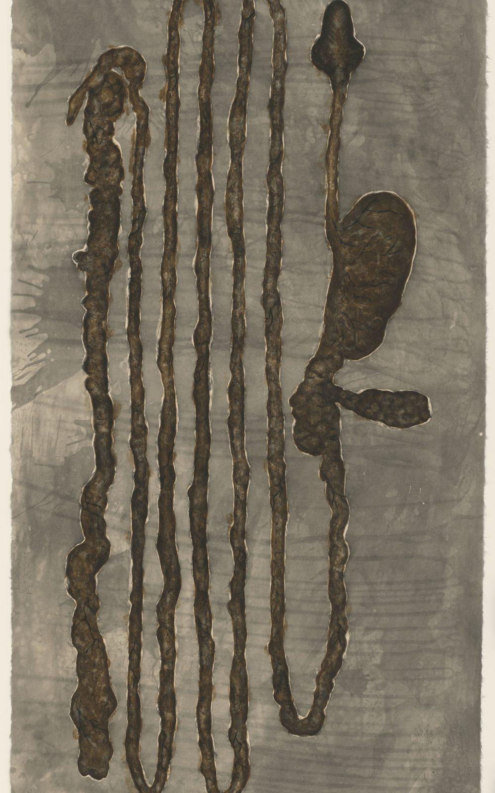 Kiki Smith, 1993, Radierung und Aquatinta auf japanischem Echizen Kouzo Kizuki-Papier, 1855 x 919 mm, Staatliche Graphische Sammlung München, Schenkung der Künstlerin © Kiki Smith, courtesy Pace Gallery