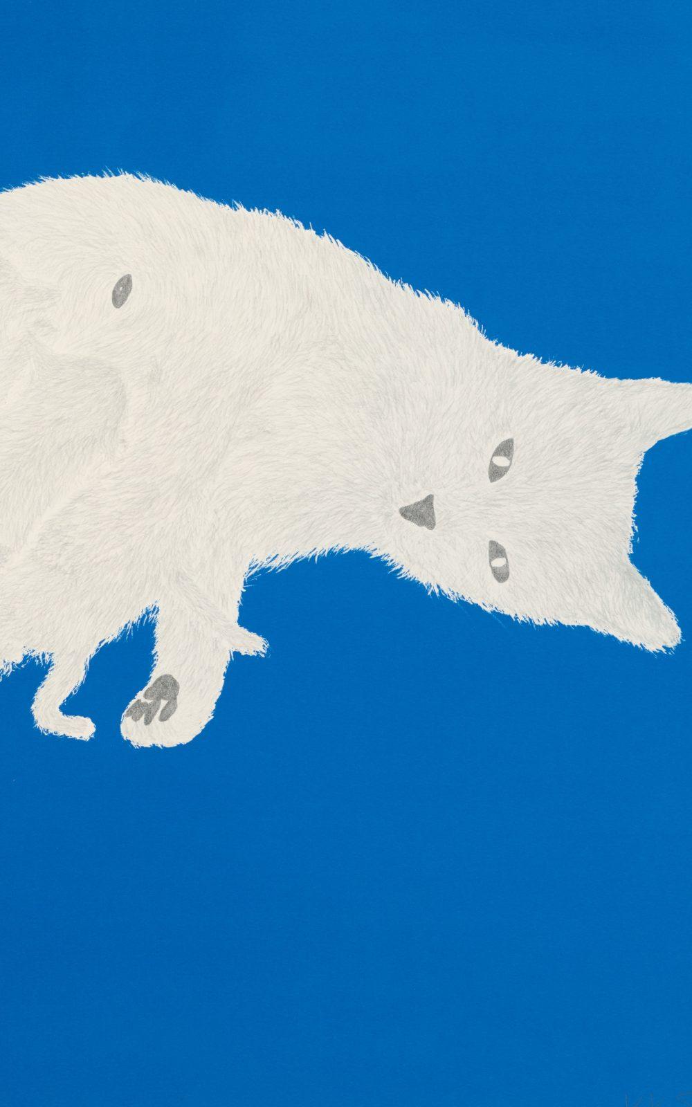 Kiki Smith, Litter, 1999, Lithographie mit Vergoldung auf Arches Cover White-Papier, 551 x 764 mm, Staatliche Graphische Sammlung München, Schenkung der Künstlerin © Kiki Smith, courtesy Pace Gallery