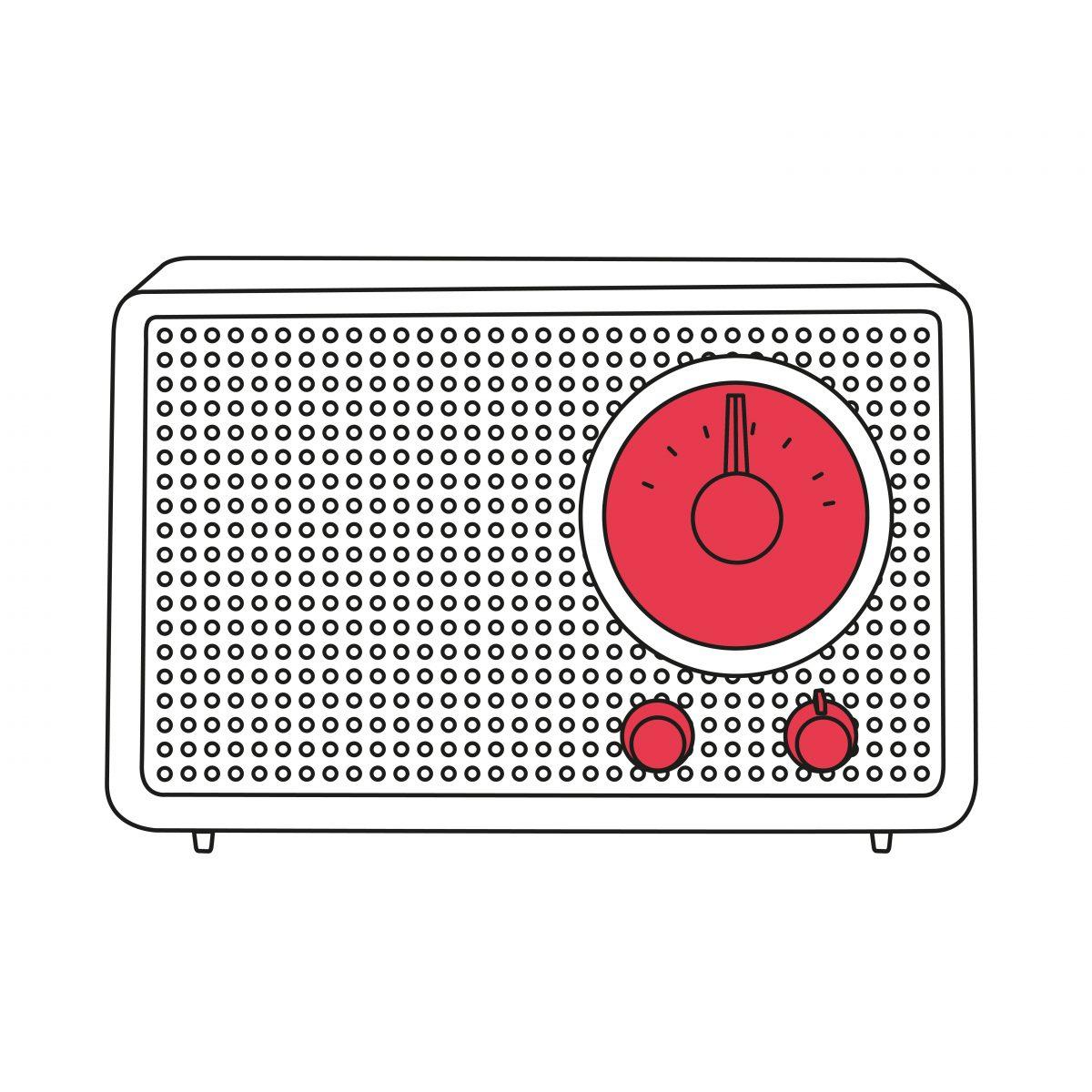 Arthur Braun, Fritz Eichler, Radio SK 2/2, 1959, Braun AG, Kronberg/Taunus, Zeichnung: Carla Nagel