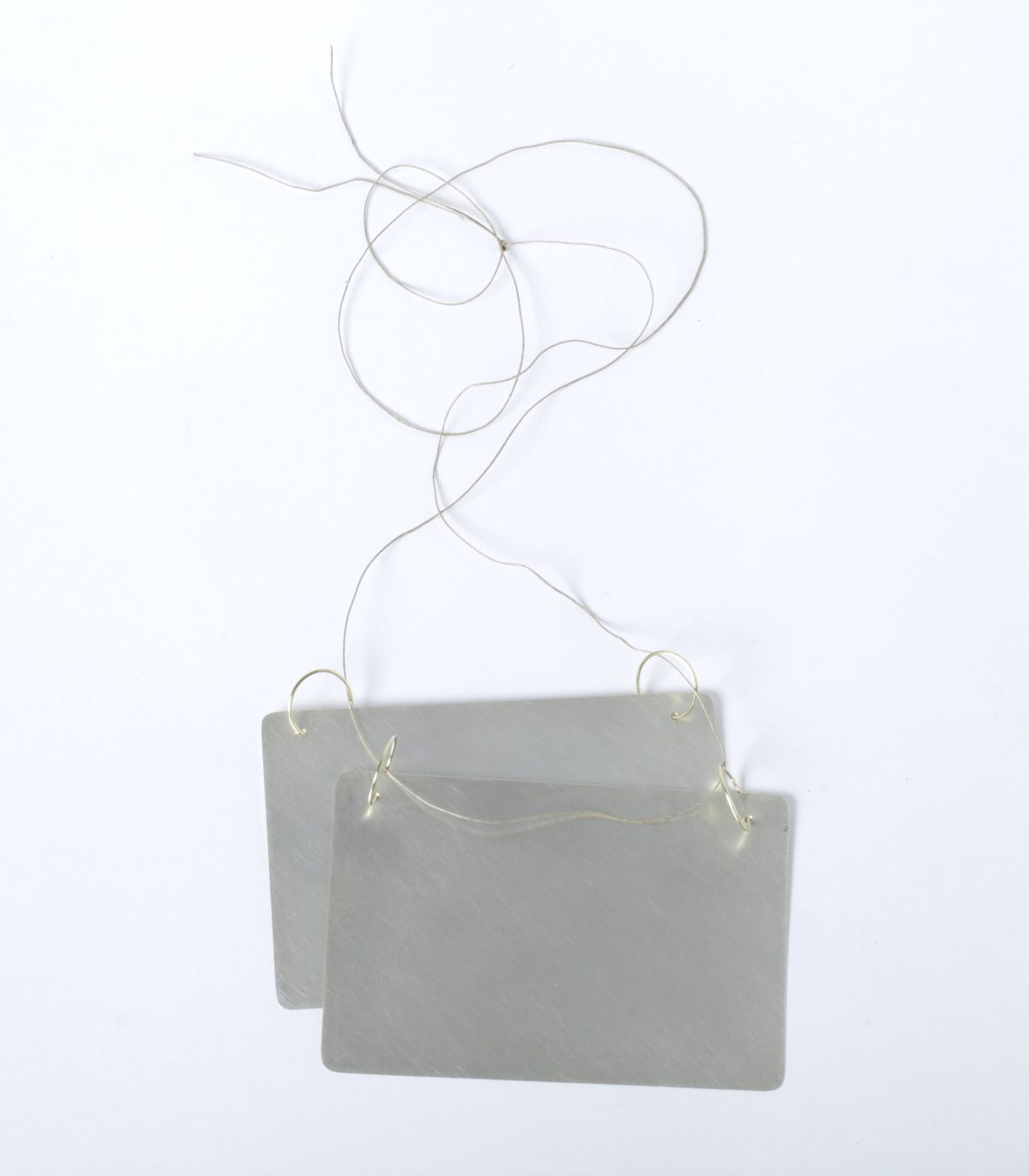 "Helena Lehtinen, necklace ""ICE"", 2012, silber, gold, h. 10 cm, w. 14 cm, Die Neue Sammlung – Permanent loan from Danner Foundation, Munich, Photo: Die Neue Sammlung (Alexander Laurenzo)"