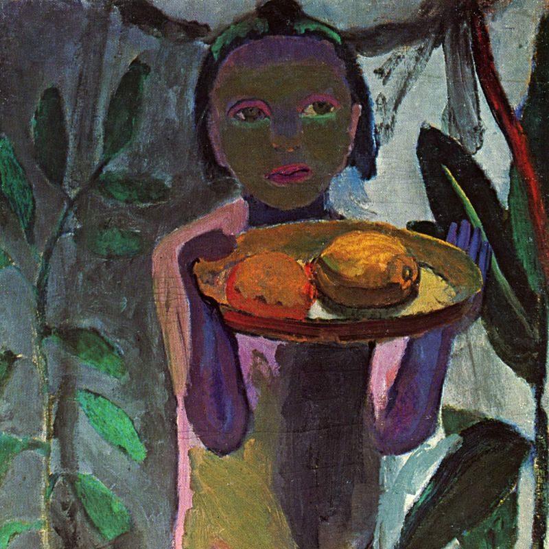 Paula Modersohn-Becker, Kinderakt mit Goldfischglas, 1906-1907, Leinwand, 105,5 x 54,5 cm, Schenkung von Sofie und Emanuel Fohn