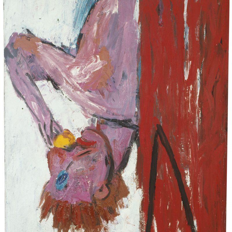 Georg Baselitz, Orangenesser IV, 1981, Öl auf Leinwand © Georg Baselitz, Leihgabe des Wittelsbacher Ausgleichsfonds, München