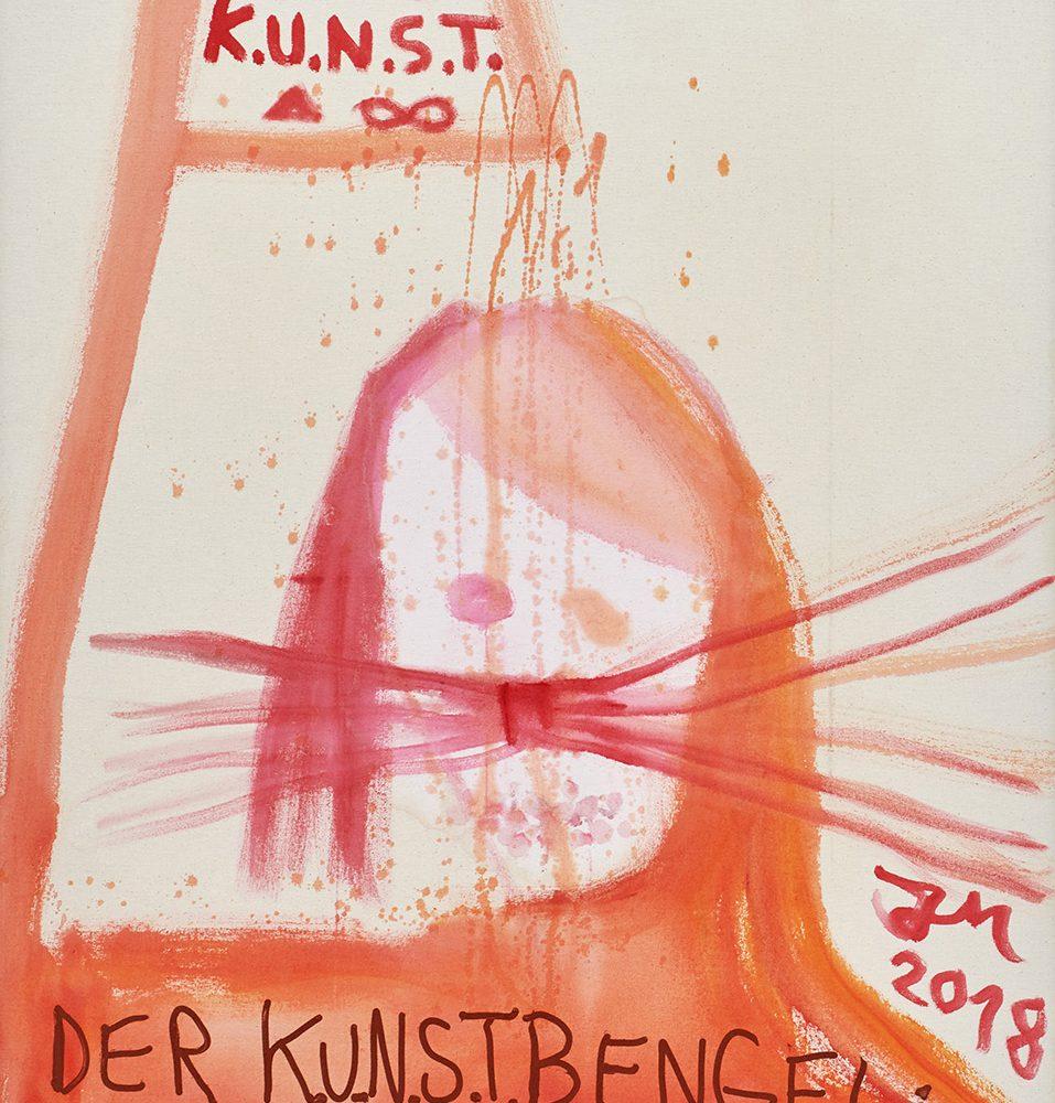 """Jonathan Meese, """"CHEF DE KUNST"""" SAGT: KUNST IST DE CHEF!, 2017 © Jonathan Meese /VG Bild-Kunst, Bonn 2018"""