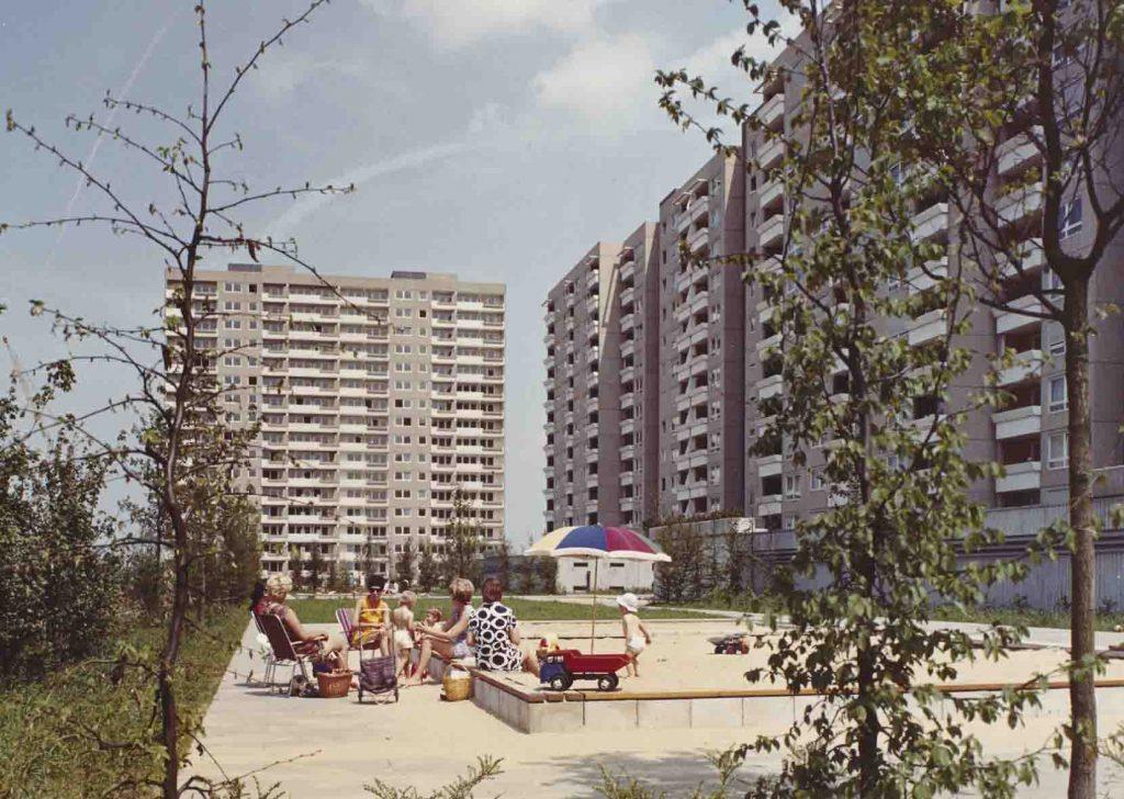 Siedlung Kranichstein Darmstadt, Ernst May, ab 1968 © Hamburgisches Architekturarchiv