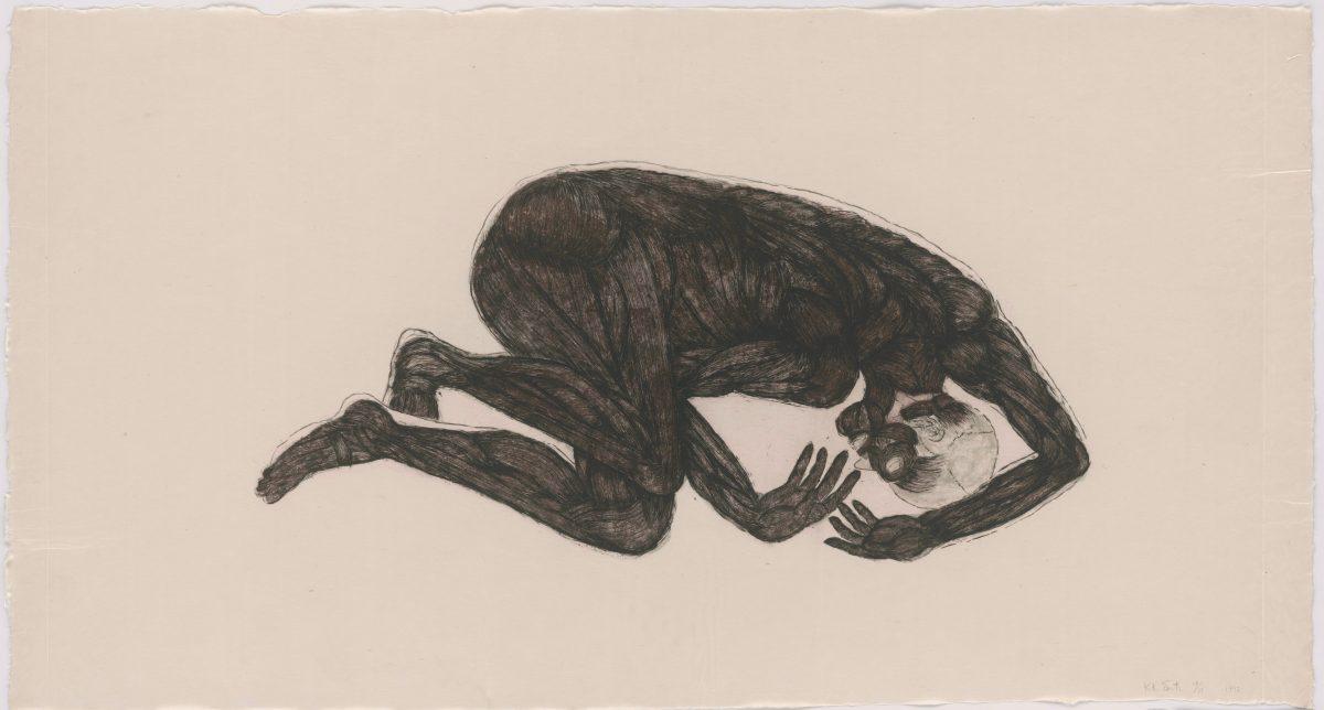 Kiki Smith, Sueño, 1992, Radierung auf Aquatinta auf handgeschöpftem Echizen-Kouzo-Kizuki-Papier, 1057 x 1940 mm © Kiki Smith, courtesy Pace Gallery