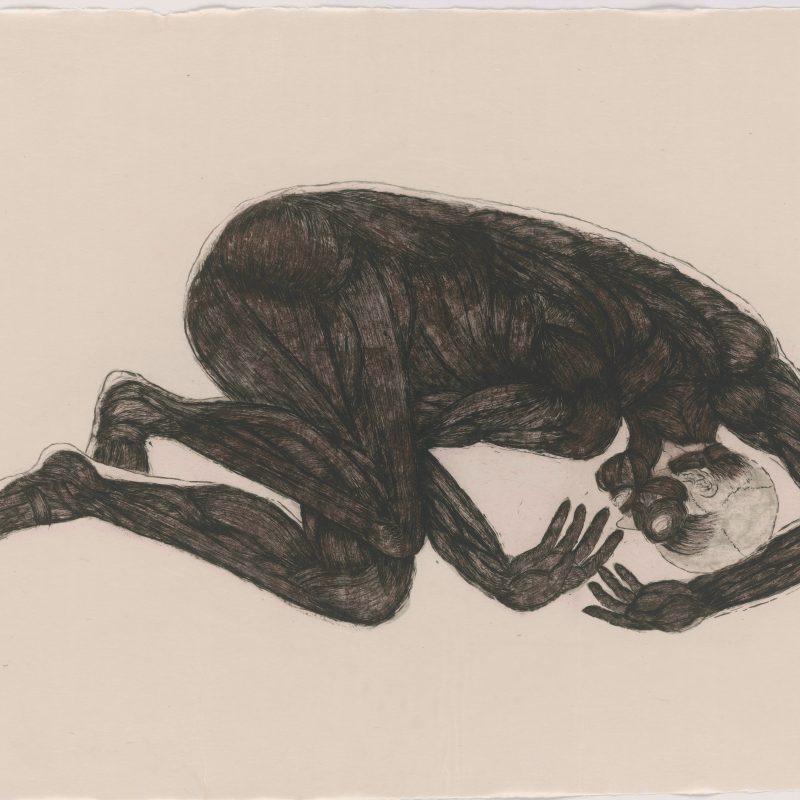 Kiki Smith, *1954 Sueño, 1992, Radierung auf Aquatinta auf handgeschöpftem Echizen-Kouzo-Kizuki-Papier, 1057 x 1940 mm Inv.-Nr. 2018:67 D