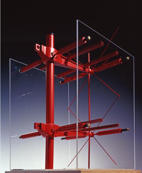 Modell einer Stütze des Centre Pompidou von Richard Rogers, Peter Rice und Renzo Piano, 1971-1977