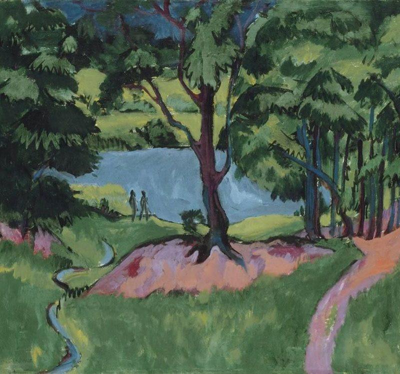 Ernst Ludwig Kirchner, Böhmischer Waldsee, 1911, Leinwand, 81 x 90,6 cm
