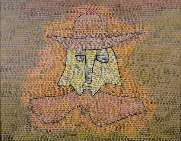 Klee, Paul  *1879 in Bern, Schweiz †1940 in Muralto, Schweiz Pastor Kohl, 1932  Ölfarbe auf Nesseltuch auf Sperrholzplatte 50 × 65 cm