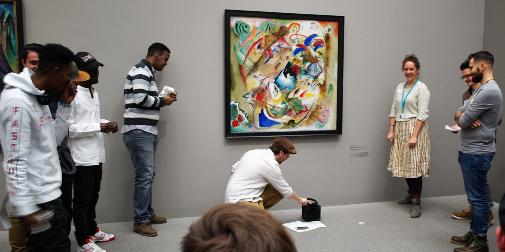 KlangSpielPlatz im KunstWerkRaum, Pinakothek der Moderne/ Wassily Kandinsky, Träumerische Inspiration, 1913, Sammlung Moderne Kunst, Bayerische Staatsgemäldesammlungen