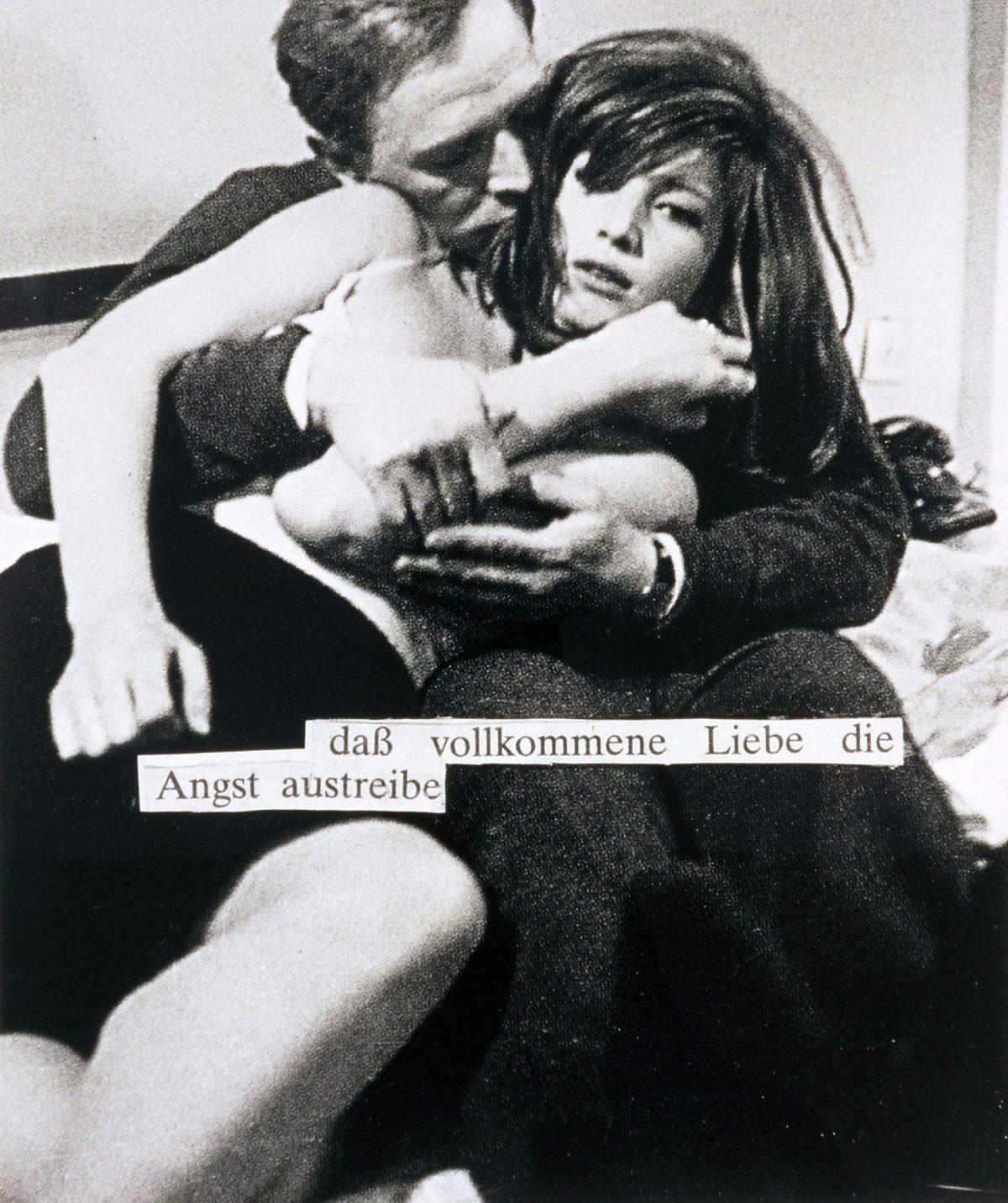 """Die Fotoarbeit von Astrid Klein """"Ohne Titel (daß vollkommene Liebe …)"""""""