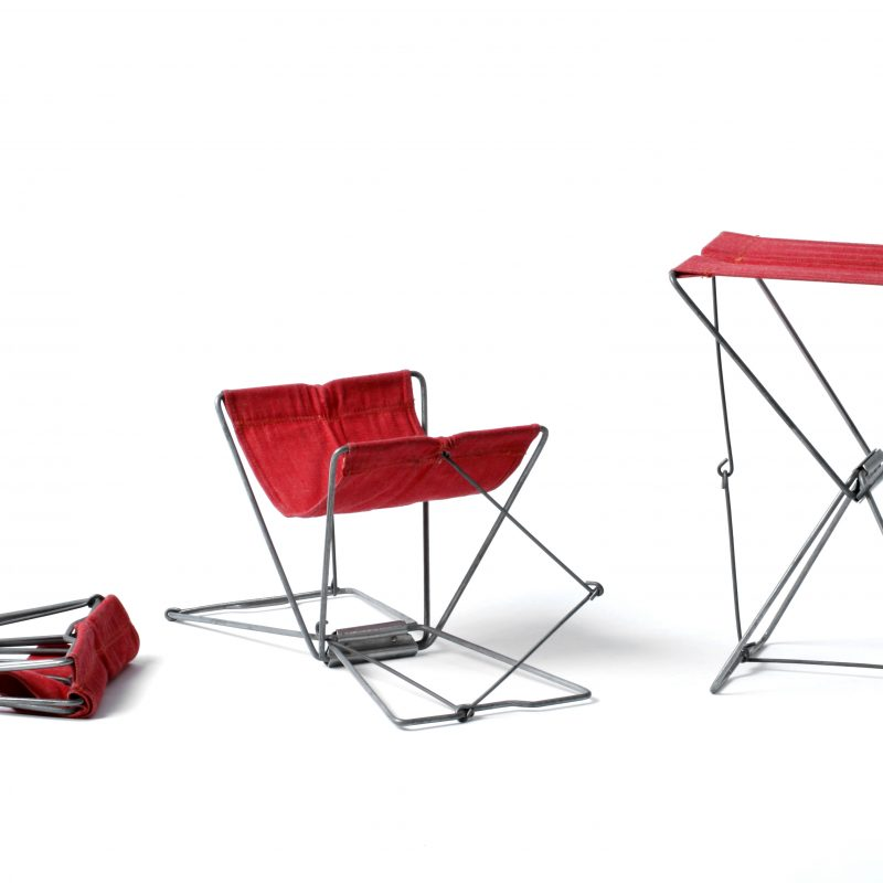 Red Fishing and Camping Stool